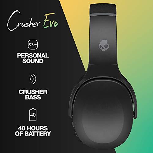 Skullcandy Crusher Evo Wireless Over-Ear Headphone – True Black