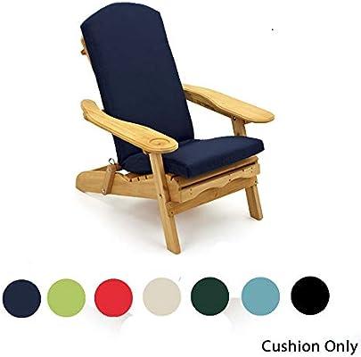 Cojín por Silla de Jardín Adirondack. Una sola pieza por el asiento, espalda y cabeza de la silla. Disponible en 6 colores (520mm x 470mm) - SÓLO COJÍN: Amazon.es: Hogar