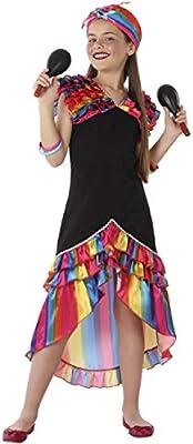 Atosa Disfraz de Rumbera Multicolor para niña 3 a 4 años: Amazon ...