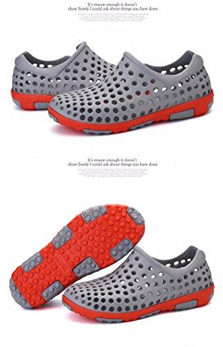 Das neue Sommer Männer Schuh Loch Schuh Mode Strand Schuh Große Größe Atmungsaktiv Sandalen Rom Freizeit Schuh Männer ,grau,US=10,UK=9.5,EU=44,CN=46