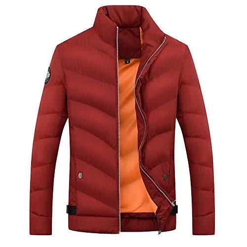(GOVOW Jackets for Men Lightweight Boys Casual Warm Hooded Winter Zipper Coat Outwear(US:12/CN:XL,Yellow))