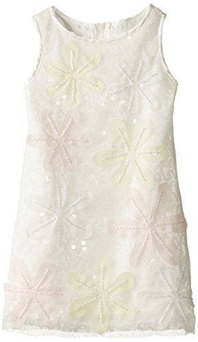 Biscotti Little Girls' Chic Confection Chemise Dress, Ivory, 6 by Biscotti