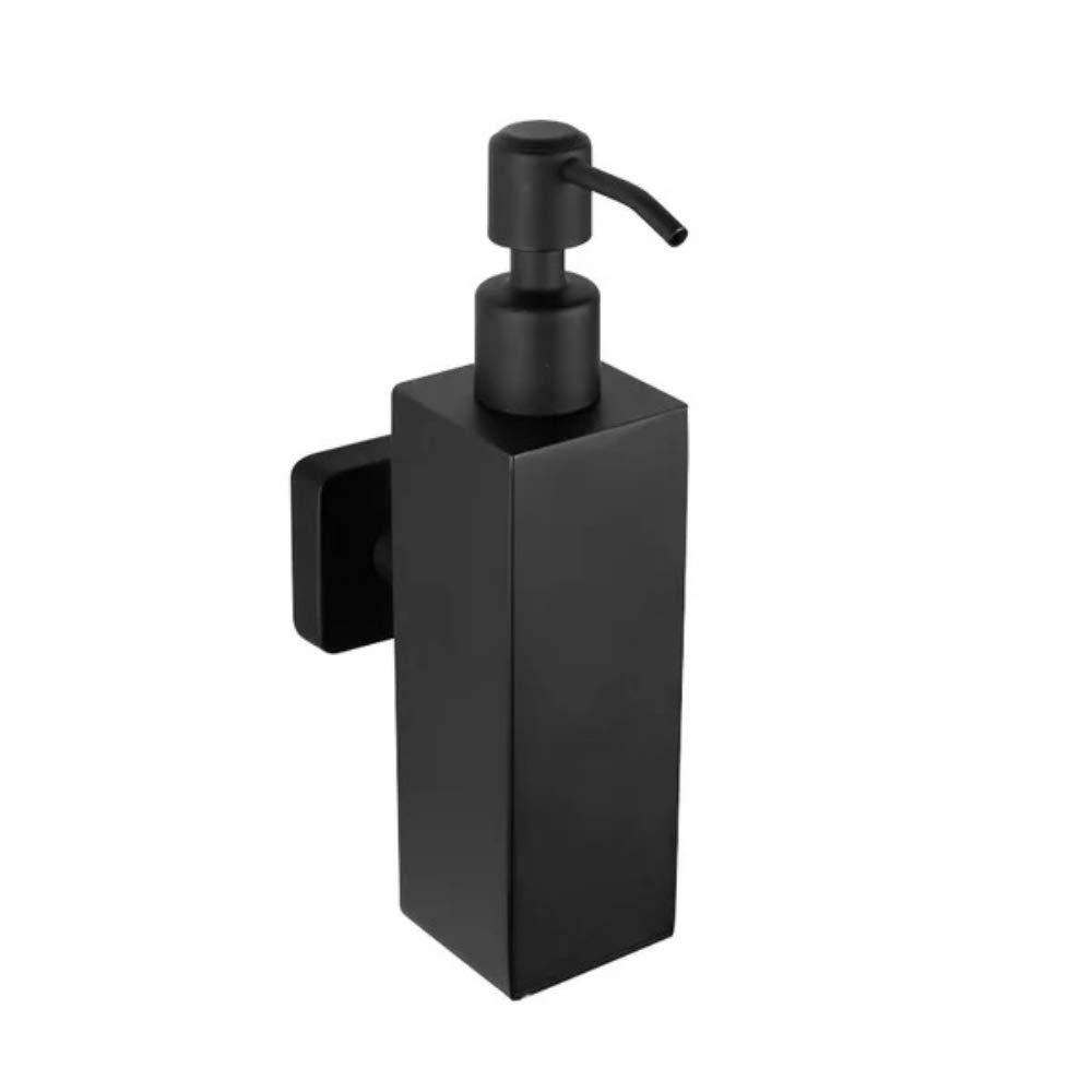 YUTU SUS304 Stainless Steel Matte Black Liquid Soap Dispensers Bath Soap Holder
