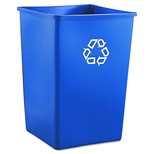 Rubbermaid Commercial RCP 3958-73 BLU Recycling Container, Square, Plastic, 35 gal, - Square 73