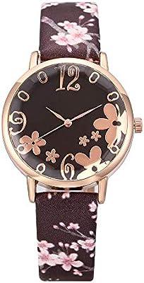 Elecenty Moda Relojes para Mujer Estampado de Flores Cinturón ...