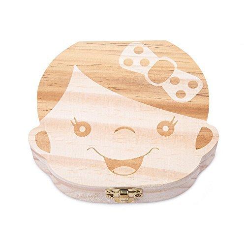 TOOGOO Cute Personality Baby Teeth Box Save Wooden