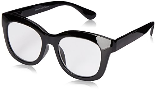 - Peepers Women's Center Stage 2302150 Oval Reading Glasses, black, 1.5