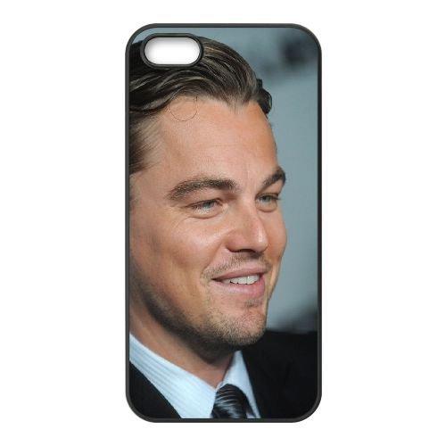 Leonardo Dicaprio Man Actor Costume Smile Hair Blue Eyes coque iPhone 5 5S cellulaire cas coque de téléphone cas téléphone cellulaire noir couvercle EOKXLLNCD25514