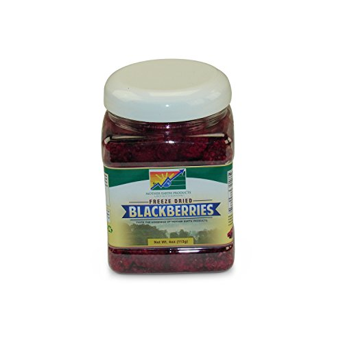 Mother Earth Products Freeze Dried Blackberries, Quart Jar, Net Wt 4oz ()