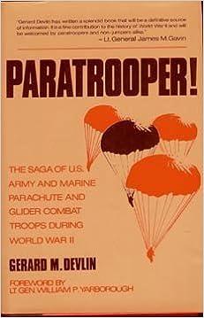 Book Paratrooper! by Gerard M. Devlin (1986-10-03)