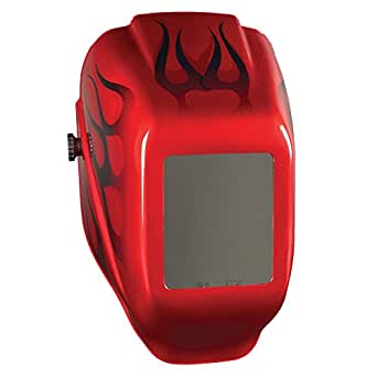 Jackson Safety W10 HLX Passive Welding Helmet (20499), Ultra-Lightweight, I-2 (Red Flame), 2 Units / Case