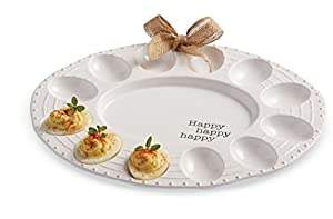 Amazon Com Mud Pie Deviled Easter Bunny Egg Plate