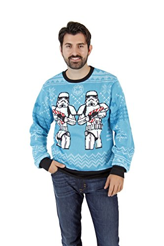 Star Wars Snowmen Stormtroopers Ugly Christmas Sweater (X-Large)]()