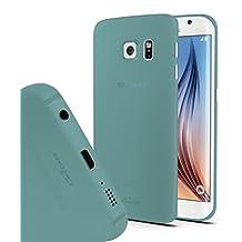 Galaxy S6 Edge case, CaliCase® [Ultra Slim] [Clear Emerald Green] Perfect cutouts [0.35mm Thin] Samsung Galaxy S6 Edge case