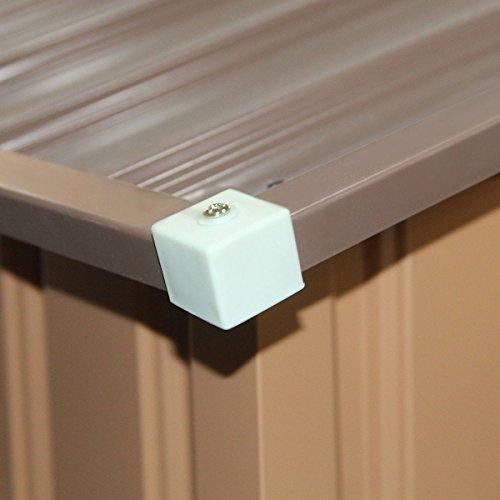 9' X 6' Outdoor Garden Storage Shed Tool House Sliding Door Steel Khaki New by tamsun (Image #5)