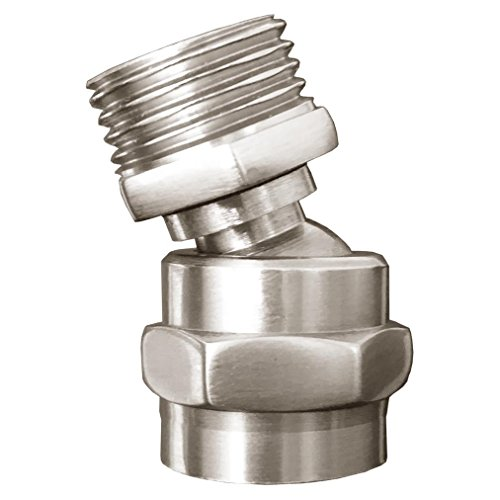 MissMin Shower Head Swivel Adapter Ball Joint,showerhead Adjustable Connector,Brushed Nickel