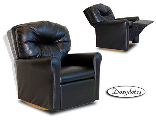 - Dozydotes Contemporary Rocker Recliner Black Leather Like