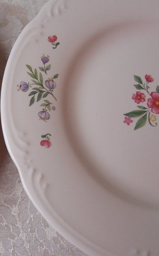 (4 Pfaltzgraff Meadow Lane Salad Plates Made in the United States)