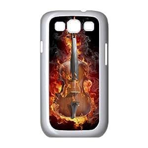 3D Samsung Galaxy S3 Case Burning Violin Dark, Cheap Cute, {White}