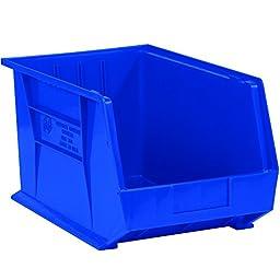 Aviditi BINP1087B Plastic Stack and Hang Bin Boxes, 10 3/4\
