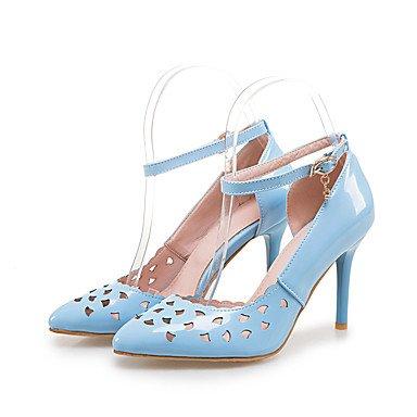 LvYuan Tacón Stiletto-Otro-Sandalias-Oficina y Trabajo Vestido Informal-PU-Azul Rosa Blanco Blue