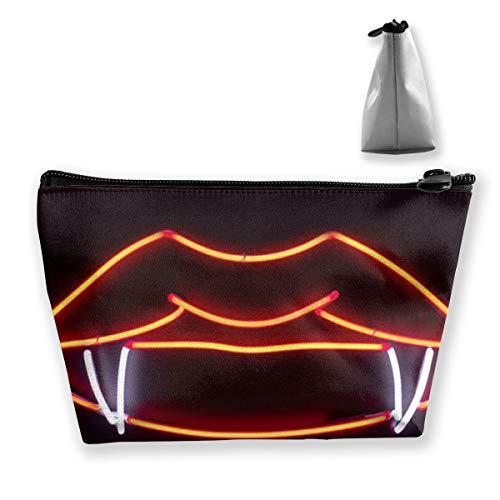 Maple Memories Vampire Kiss Travel Cosmetic Bag Cute Makeup Bag for Women