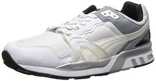 Puma Hombres Trinomic Xt2 Plus Tech Classic Sneaker Blanco / Gris / Plateado Metálico