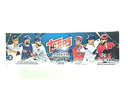 2018 Topps Baseball Factory Sealed Retail Set 705 Cards With 5 Bonus Rookies