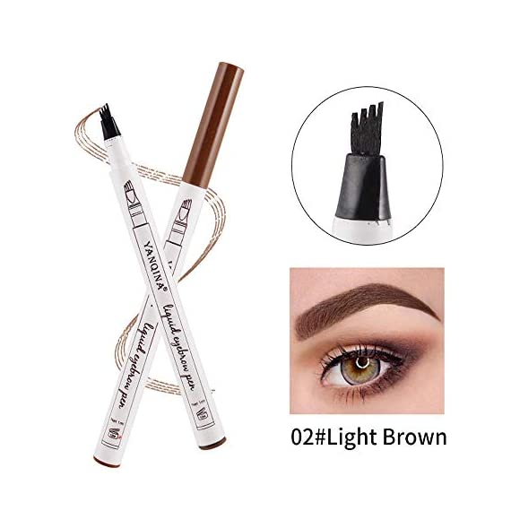 XUANOU Eyebrow Tattoo Pen Waterproof Fork Tip Sketch Makeup Pen Microblading Ink Sketch 8 ♬❃☂Comfortable handle design. Easy to use and portable. Soft and silky to touch,the brushes are dense and shaped well. Easily and beautifully crafted to blend foundation, powder, moisturizers and primers seamlessly into your skin. ♬❃☂Premium Synthetic Makeup Brushes: Made with soft and dense synthetic fibers to provide a high definition finish with liquid, powders or cream foundation without any absorption of product and no shedding. ♬❃☂Versatile Brush Set: Cover all size and shape of brushes to carve and sculpt the face for flawless dimension. Ideal for contouring, blending, shading and highlighting.