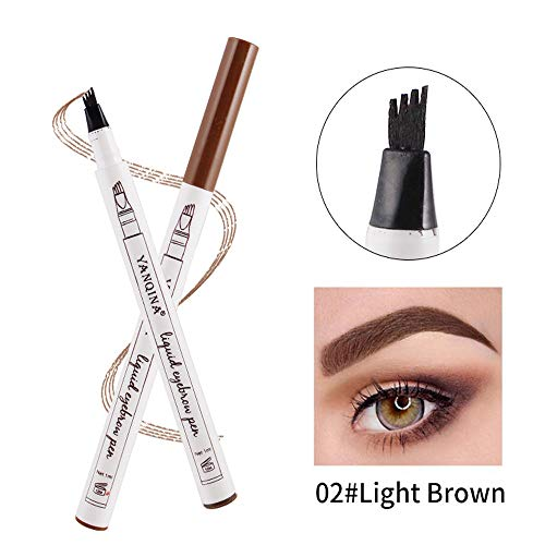 Clearence Brushes KpopBaby Eyebrow Tattoo Pen Waterproof Fork Tip Sketch Makeup Pen Microblading Ink Sketch