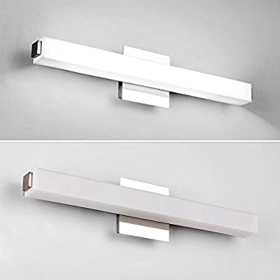 Letsun LED Vanity Lights, 24.5 inchs 16W Cool White LED Make-Up Mirror Light Bathroom Light LED Wall Light Bathroom lighting, White Acrylic Rectangular Tube Lighting