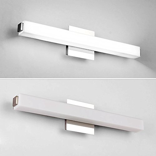 Letsun LED Vanity Lights, 20.5 inchs 16W Cool White LED Make-Up Mirror Light Bathroom Light LED Wall Light Bathroom Lighting, White Acrylic Rectangular Tube Lighting