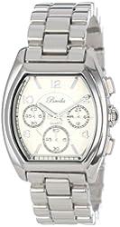Breda Women's 5177-silver Tessa Tonneau Silver Tone Boyfriend Watch
