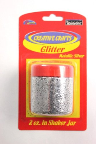 Glitter Shaker- Silver Case Pack 48 by DDI