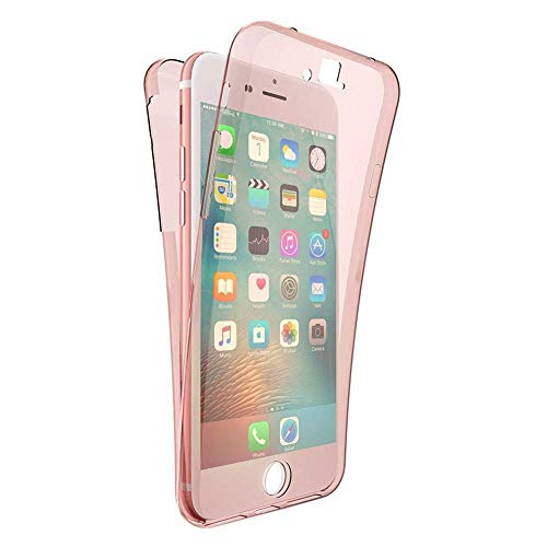 Price comparison product image Clear Bumper Case for iPhone XS Max, Yobby iPhone XS Max Rose Gold Case Full Body 360 Coverage Soft TPU Case Slim Silicone Transparent Dual Layer Shockproof Protective Cover