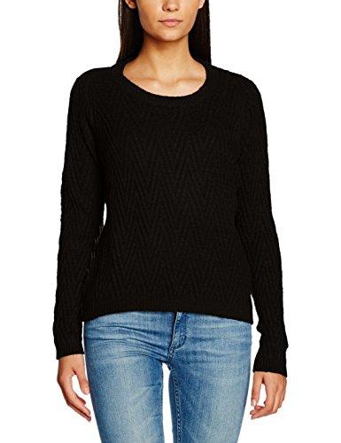 Vero Moda Vmposh Ls Blouse Noos, Suéter para Mujer Negro (Black)
