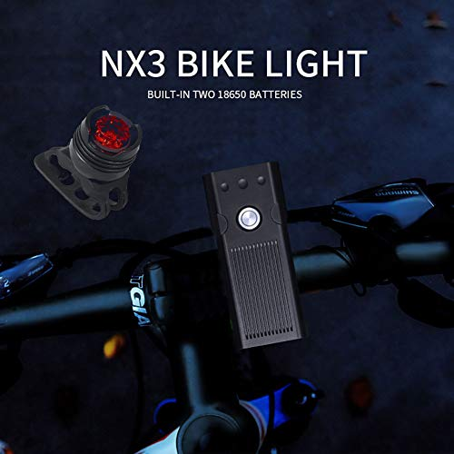YinVinA LED Bike Light, for Night Riding,3 Modes Super Bright 360 Degree Rotating Bracket 6 Hours Highlight USB Front and Back Rechargeable Bike Light Set IPX Waterproof