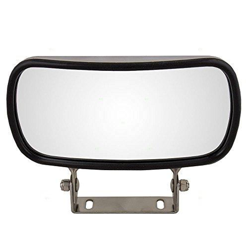 - Universal Over Door Stainless Steel 4x8.5 Convex Mirror Replacement AutoAndArt