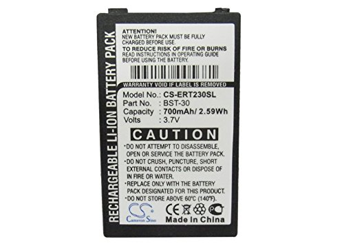 Cameron Sino 800mAh / 2.59Wh Li-ion High-Capacity Replacement Batteries for Sony Ericsson Z200, Z208, K700, K500i , fits Sony Ericsson - Phone Ion Lithium Ericsson Cell