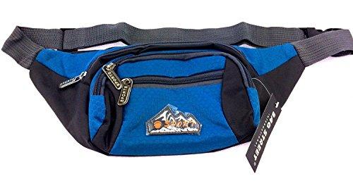 NB24 Versand Bauchtasche (2471), Gürteltasche, blau, Bag Street, Größe ca. 33 x 10 x 14 cm, Hüfttasche, Sporttasche, Geldtasche, Geldbörse
