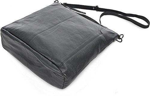 BECKSÖNDERGAARD, Damen Handtaschen, Henkeltaschen, Umhängetaschen, Schwarz, 42 x 34,5 x 14,5 cm (B x H x T)