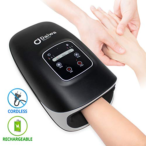 Daiwa Felicity ACU Palm Hand Massagers Electric Compression Massage Cordless with Heat Pain Relief