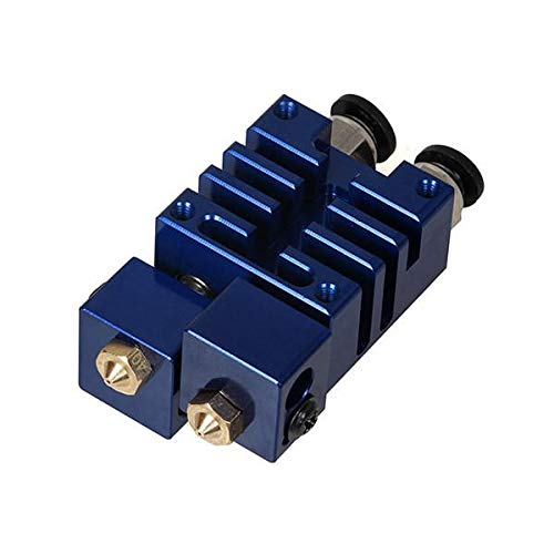 3DSWAY Improved 2 In 2 Out Hotend Kit Dual Heads Extruder For 3D Printer - 3D Printer & Supplies 3D Printer Accessories - (Blue) - 1 x 3D Printing Pen
