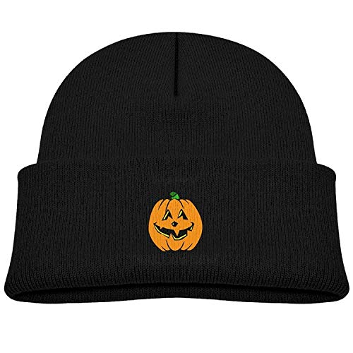 Sandra .W Beanie Cap Happy Pumpkin Happy Halloween Fleece Knit Hat Girls' Youth ()