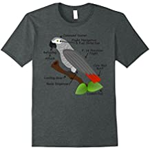 Anatomy of an African Grey Parrot T-shirt