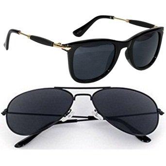 a0a6e4d9b9467 Discount Offer On UV Protected Stylish Golden Black Rubber Stick Blue  Mercury Square Wayfarer Sunglasses for ...