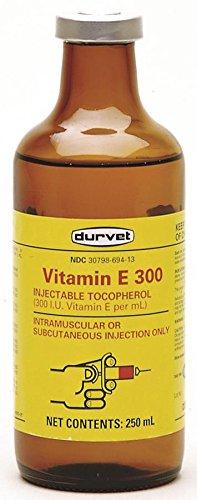 Durvet 061549 Vitamin E-300 Injection, Yellow, 250ml