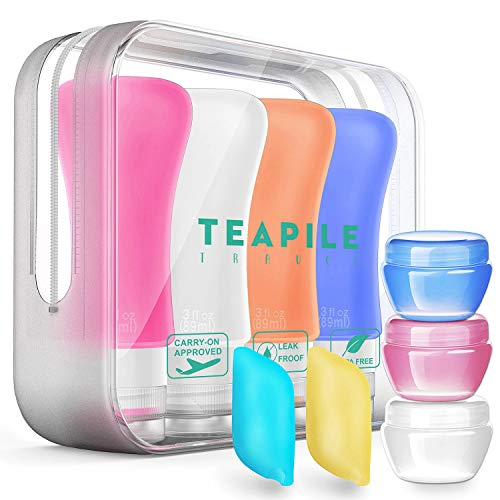 (9 Pack Travel Bottles TSA Approved Containers, 3oz Leak Proof Travel Accessories Toiletries,Travel Shampoo And Conditioner Bottles,Perfect for Business or Personal Travel, Fun Outdoors)