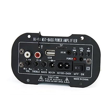 Estéreo eDealMax DC 12V Audio de alta fidelidad Bass Junta amplificador Digital de potencia Para el