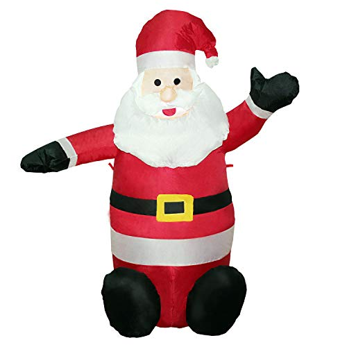 YIHONG Inflatable Santa Claus 4ft Christmas Blow Up Yard Decorations LED Light Up Decor for Indoor Outdoor Party Garden DIY Centerpiece